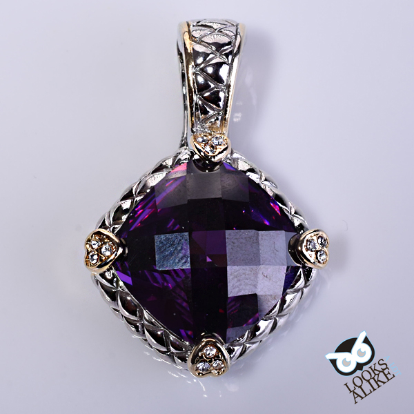 dark purple necklace