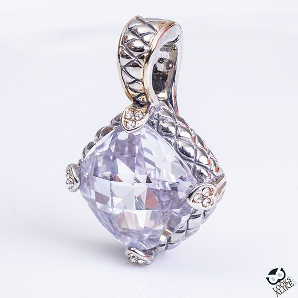 White Ice Diamond Cut Pendant