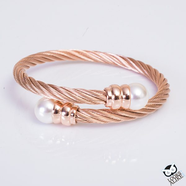 Rose Gold Pearl Bangle