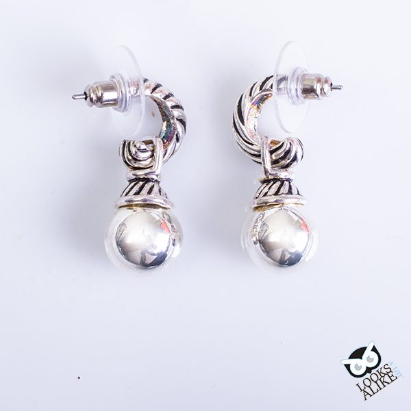 Dangling Silver Ball Earrings