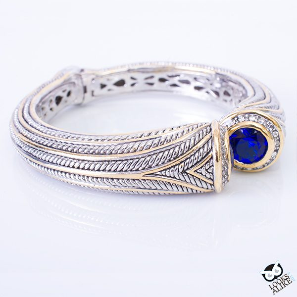 Sapphire Tapered Bangle