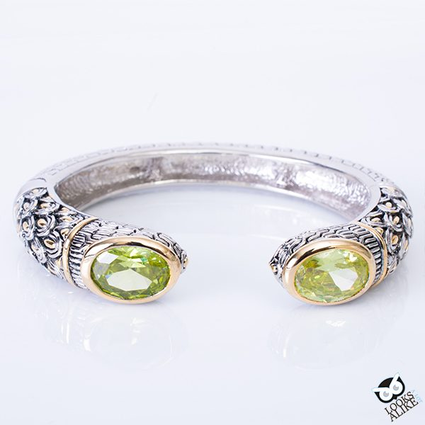 Decorative Peridot Bangle