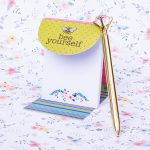 """""""Bee Yourself"""" Magnetic Note Pad"""