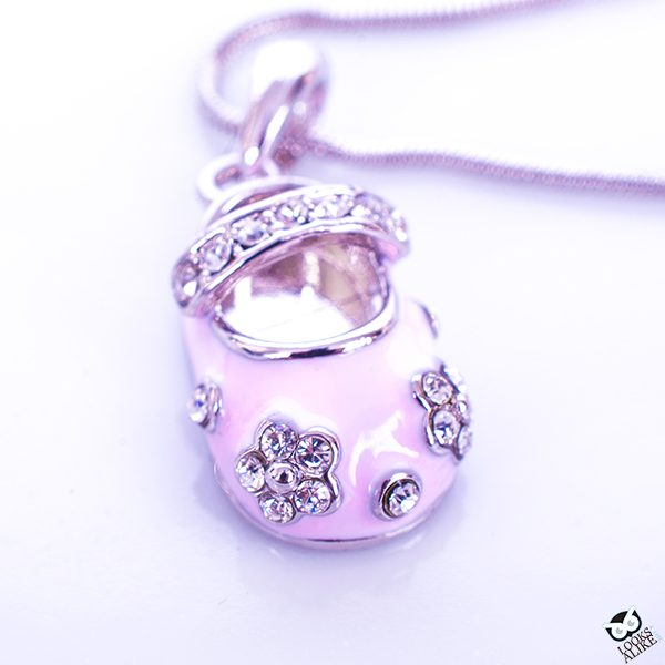 Pretty In Pink Children's Shoe Necklace