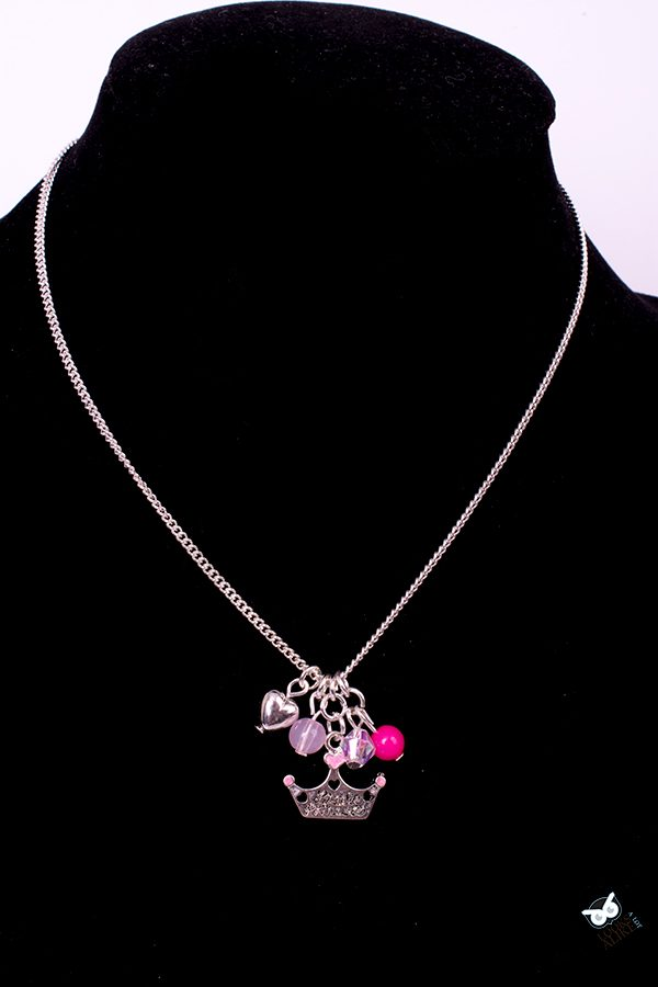 Princess Charm Necklace And Earring Set