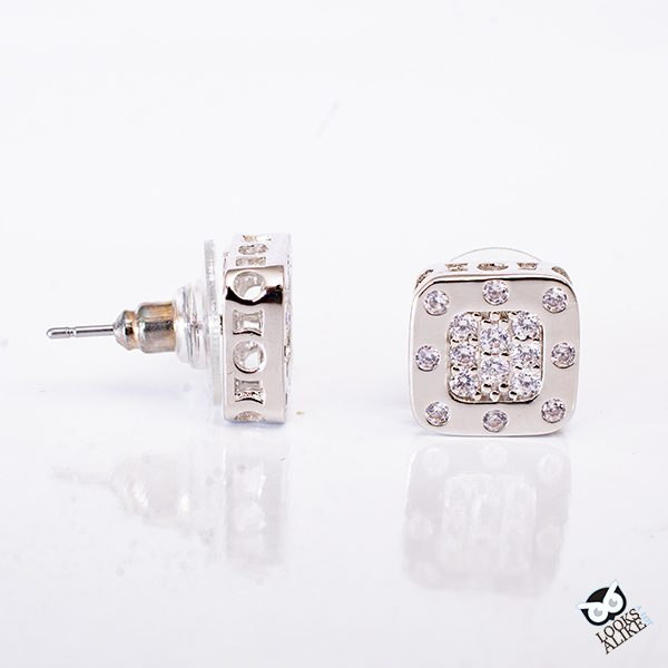 Crystal Rivet Stud Earrings