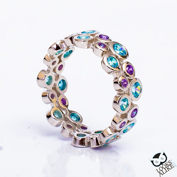 beautiful colourful inspired ring