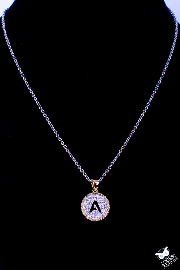 Crystal Cable Initial Pendant A