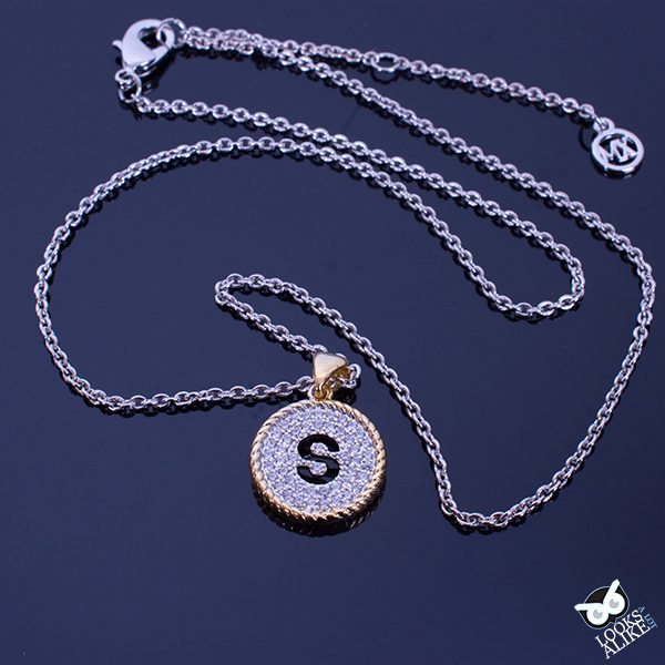 Crystal Cable Initial Pendant S