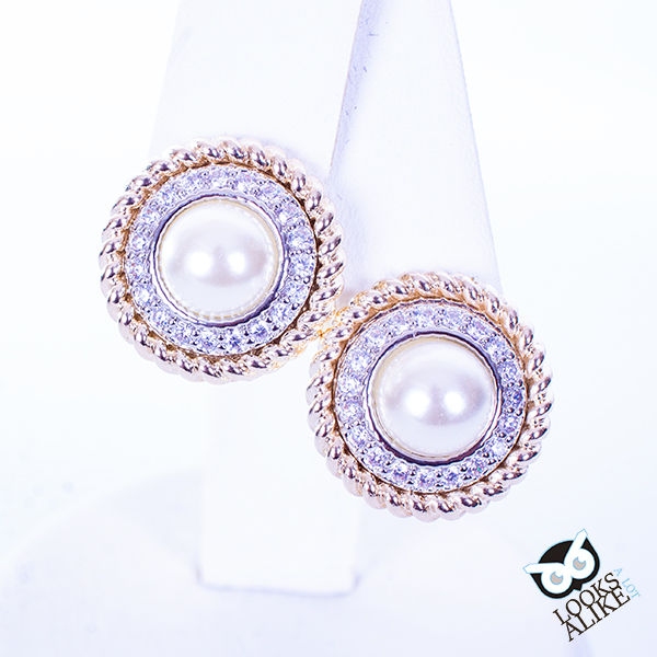 Dressy Cable Pearl Earrings