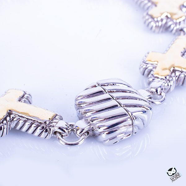 Cable Cross Magnetic Bracelet