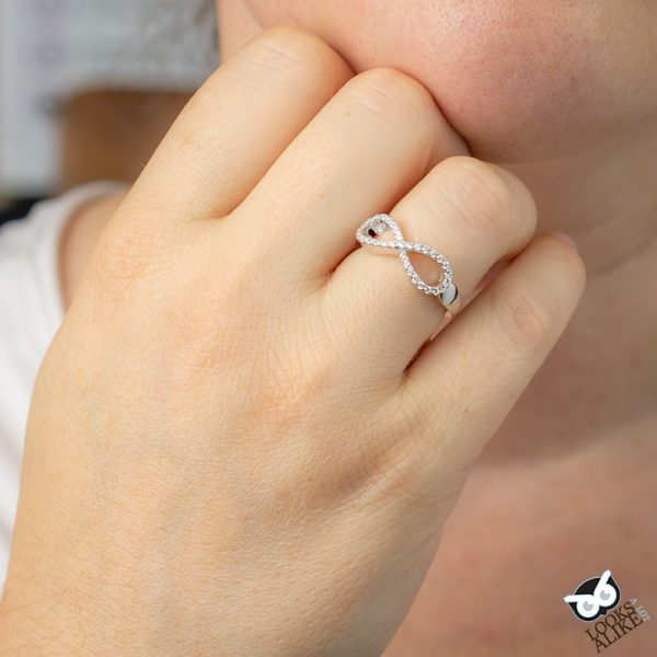 Sparkly Infinity Ring