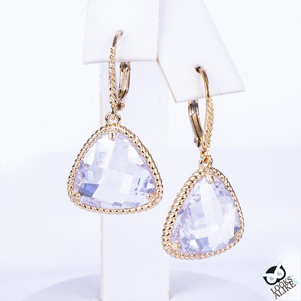 White Ice Drop Earrings