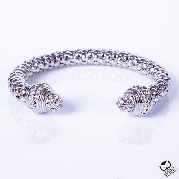 Silver Bella Bangle Bracelet