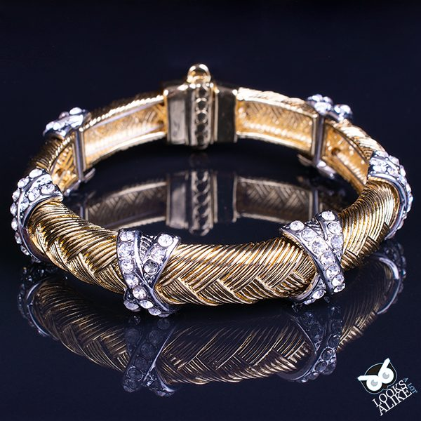 Gorgeous two-tone bracelet