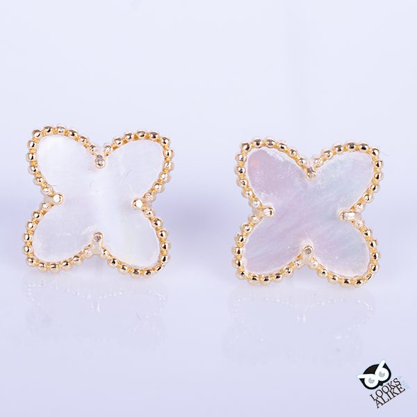 Gold Trimmed Clover Earrings