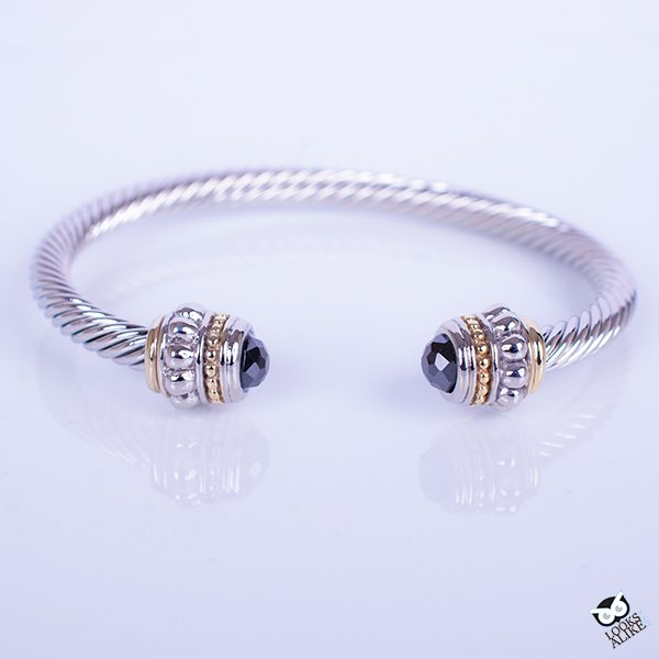 black cable bangle