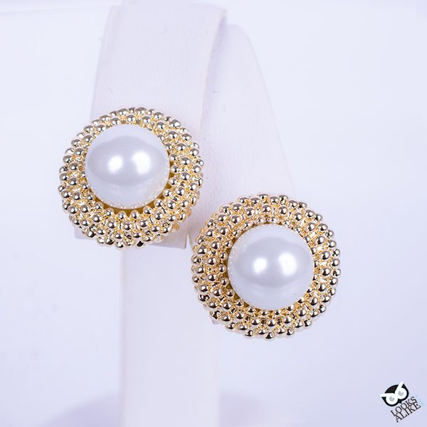 Popcorn Pearl Stud Earrings