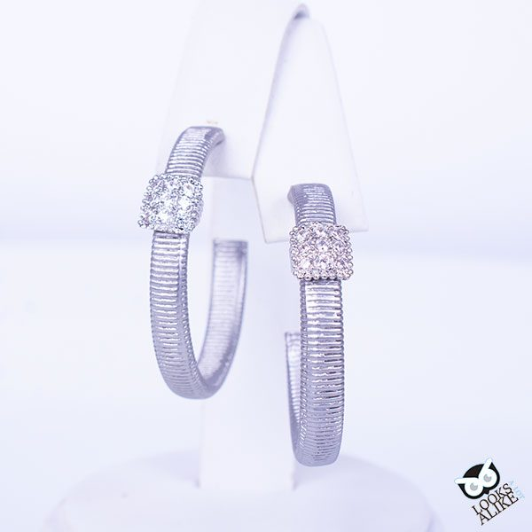 Contemporary Crystal Station Hoops