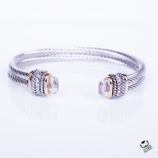 White Ice Double Cable Cuff