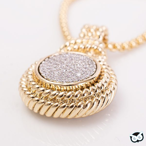 Elegant Pave Necklace