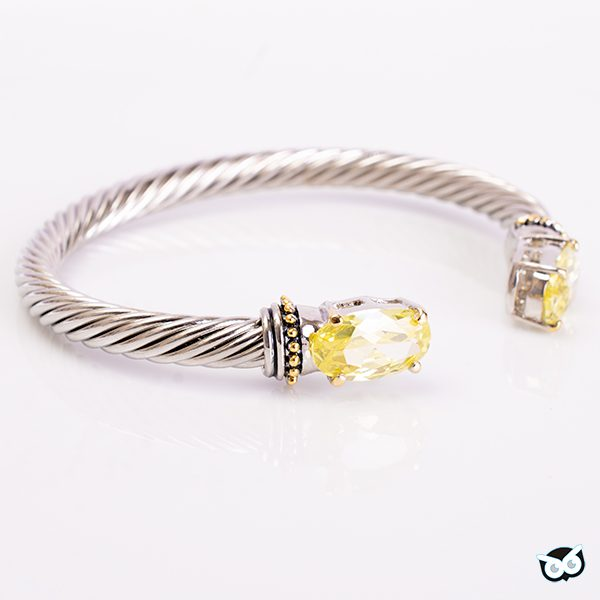 Peridot Cable Bangle