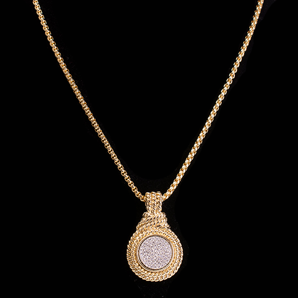 Golden Pave Necklace